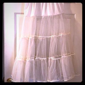 White Crinolin mesh Skirt